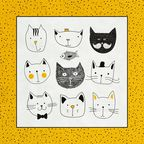 Serwetka FUNNY CATS 33 x 33 cm 20 szt.  PAW DECOR COLLECTION
