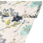 Tkanina na mb FLORALES niebieska w kwiaty szer. 140 cm