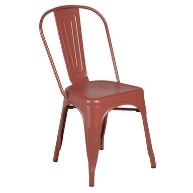 Krzesło ogrodowe SOHO metalowe czerwone