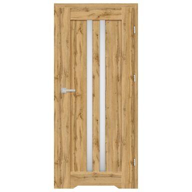 Skrzydło drzwiowe z podcięciem wentylacyjnym CORDOBA Dąb Wotan 90 Prawe NAWADOOR