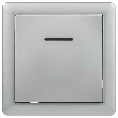 Przycisk do dzwonka podświetlany SLIM  srebrny  LEXMAN