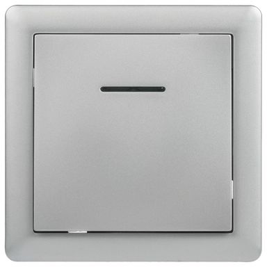 Przycisk dzwonek podświetlany SLIM  srebrny  LEXMAN