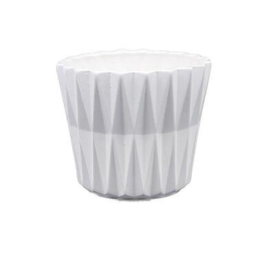 Osłonka ceramiczna 16.5 cm biała GEOMETRIC 2 J15 EKO-CERAMIKA