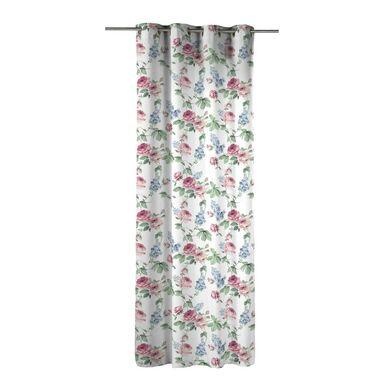 Zasłona VELLOR różowa 140 x 270 cm na przelotkach INSPIRE