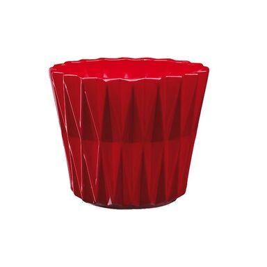 Osłonka ceramiczna 16.5 cm czerwona GEOMETRIC 2 J20 EKO-CERAMIKA