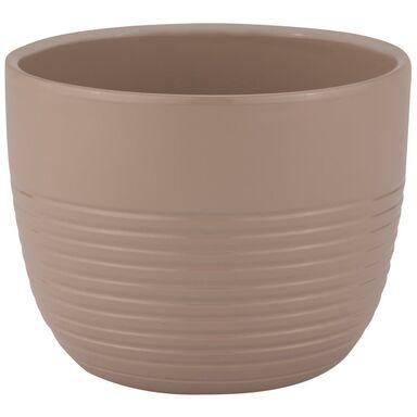 Donica ceramiczna 23 cm beżowa PROWANSJA