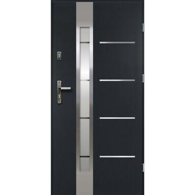 Drzwi wejściowe ADRIANA Antracyt 90 Prawe OK DOORS TRENDLINE