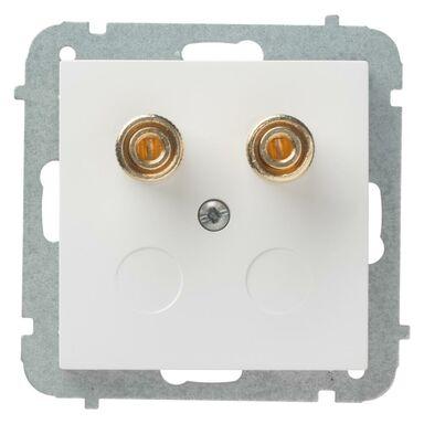 Gniazdo głośnikowe ASTORIA  biały  ELEKTRO-PLAST