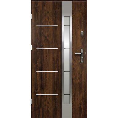 Drzwi zewnętrzne stalowe ADRIANA Orzech 80 Lewe OK DOORS TRENDLINE