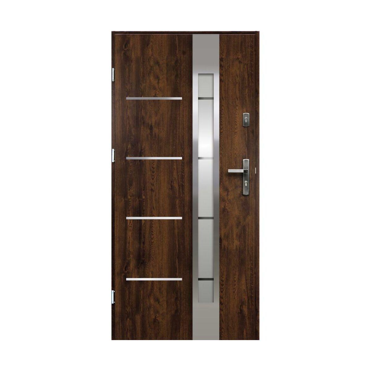 Drzwi Wejsciowe Adriana Orzech 80 Lewe Ok Doors Trendline Drzwi Zewnetrzne Do Domu Mieszkania W Atrakcyjnej Cenie W Sklepach Leroy Merlin
