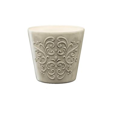 Osłonka ceramiczna 16 cm szara RETRO 2 R2223 EKO-CERAMIKA