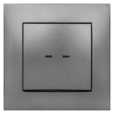 Włącznik pojedynczy z podświetleniem CARLA  grafitowy  ELEKTRO - PLAST