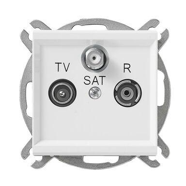 Gniazdo RTV SAT końcowe SONATA Biały OSPEL
