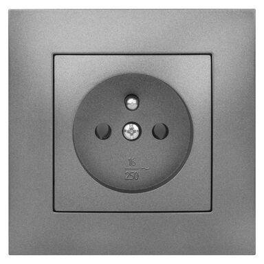 Gniazdo pojedyncze CARLA  Grafitowy  ELEKTRO-PLAST
