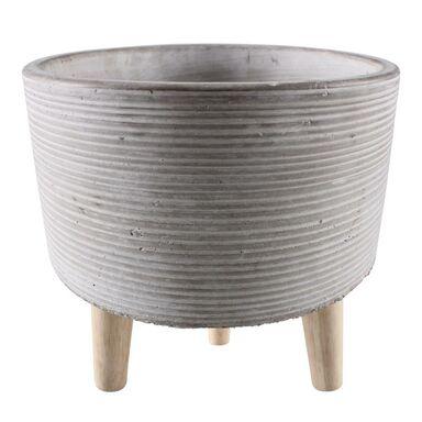 Osłonka doniczki betonowa 20.5 cm szara ULF
