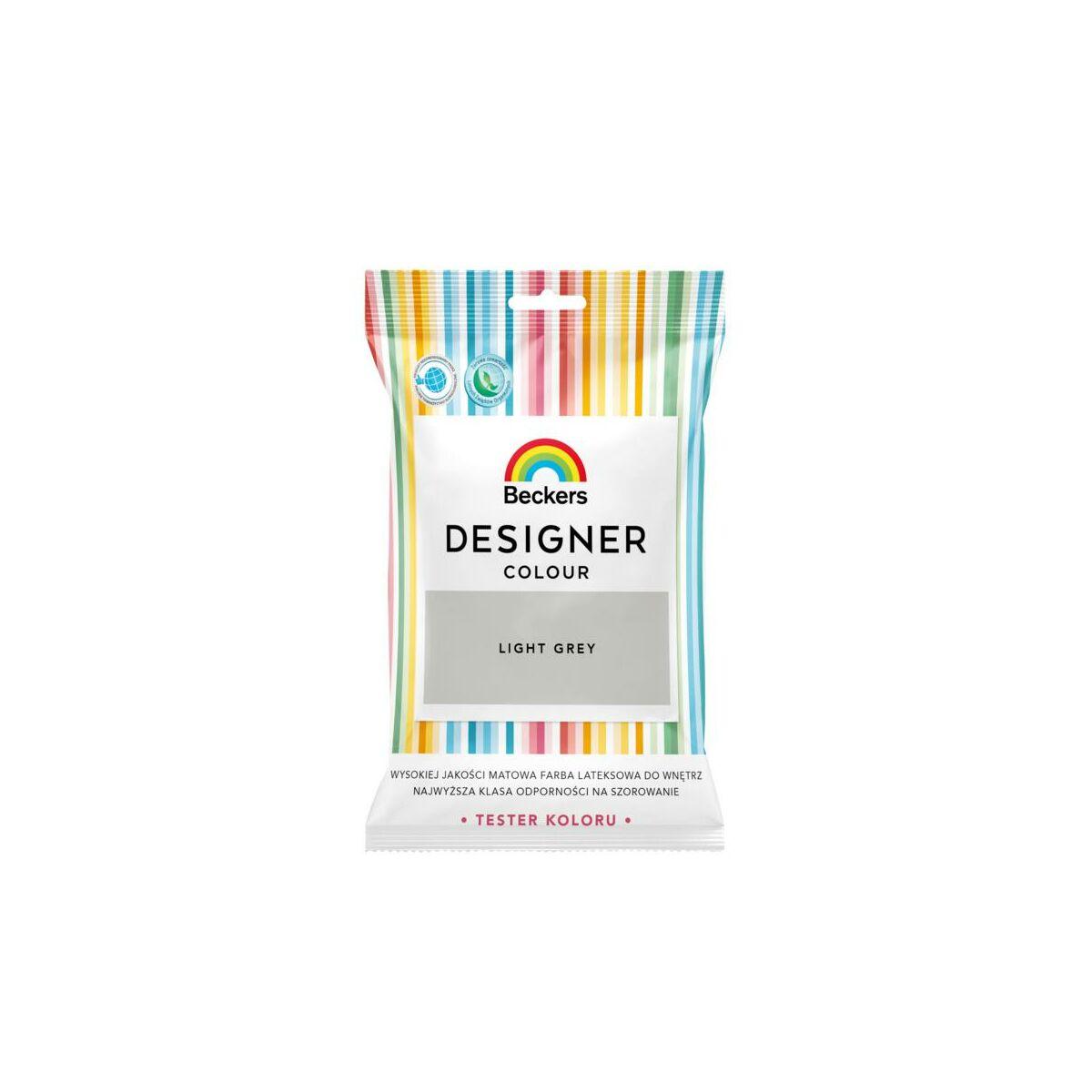Tester Farby Designer Colour 50 Ml Light Grey Beckers Testery W Atrakcyjnej Cenie W Sklepach Leroy Merlin