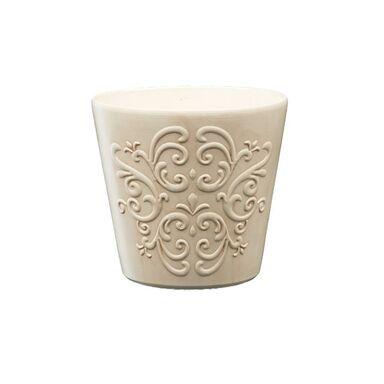 Osłonka ceramiczna 13 cm beżowa RETRO 1 R0123 EKO-CERAMIKA