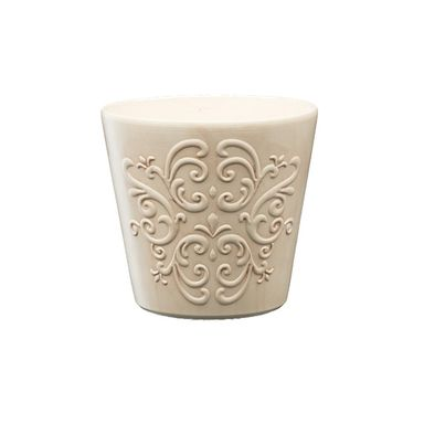 Osłonka ceramiczna 16 cm beżowa RETRO 2 R0123 EKO-CERAMIKA