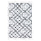 Dywan bawełniany DONATELLA biało-niebieski 60 x 90 cm INSPIRE