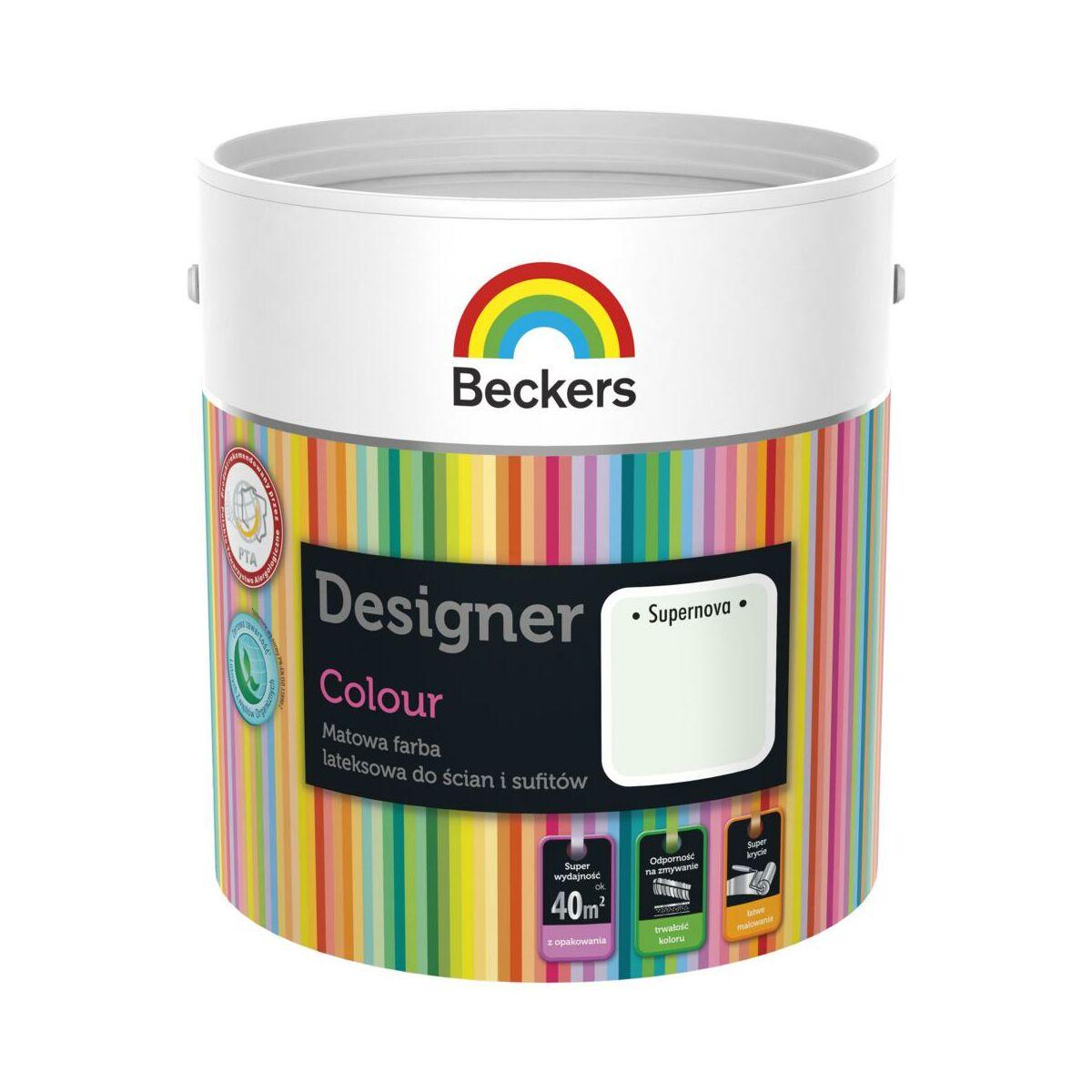 Farba Wewnetrzna Designer Colour 2 5 L Supernova Beckers Farby Scienne Kolorowe W Atrakcyjnej Cenie W Sklepach Leroy Merlin