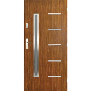 Drzwi zewnętrzne stalowe Nike złoty dąb 90 prawe Pantor