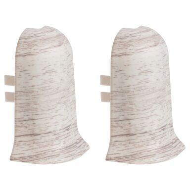 Narożnik zewnętrzny do listwy przypodłogowej ERGO 56 Dąb siwy 2 szt.