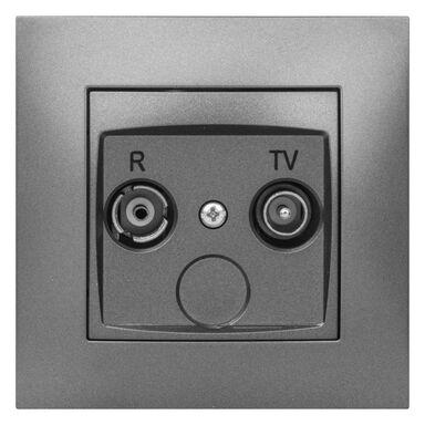 Gniazdo RTV KOŃCOWE CARLA Grafitowy ELEKTRO - PLAST