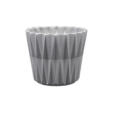 Osłonka ceramiczna 16.5 cm szara GEOMETRIC 2 J22 EKO-CERAMIKA