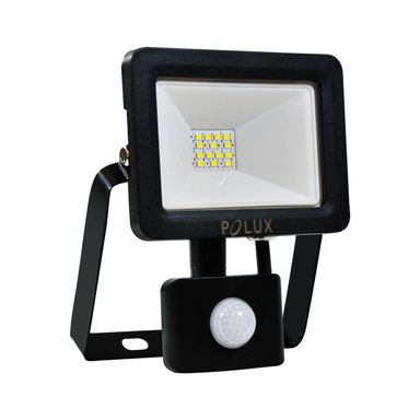 Naświetlacz COB z czujnikiem ruchu IP65 czarny aluminium LED POLUX