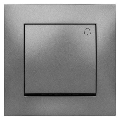 Przycisk do dzwonka CARLA  grafitowy  ELEKTRO - PLAST