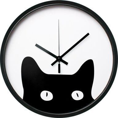 Zegar ścienny Kitten śr. 30 cm czarny