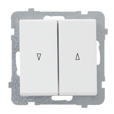 Włącznik żaluzjowy SONATA  Biały  OSPEL