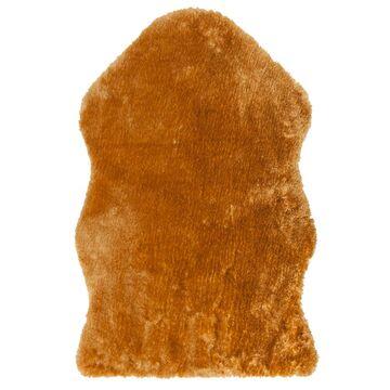 Dywan sztuczna skóra miodowy 55 x 85 cm