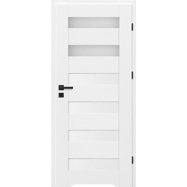 Skrzydło drzwiowe z podcięciem wentylacyjnym TALANA Białe 70 Prawe NAWADOOR