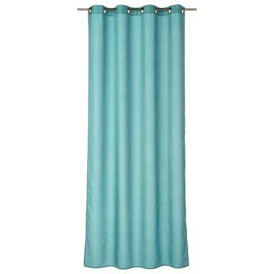 Zasłona gotowa BLUEBERRY  kolor Niebieski 140 x 260 cm Kółka 125 g/m²  INSPIRE