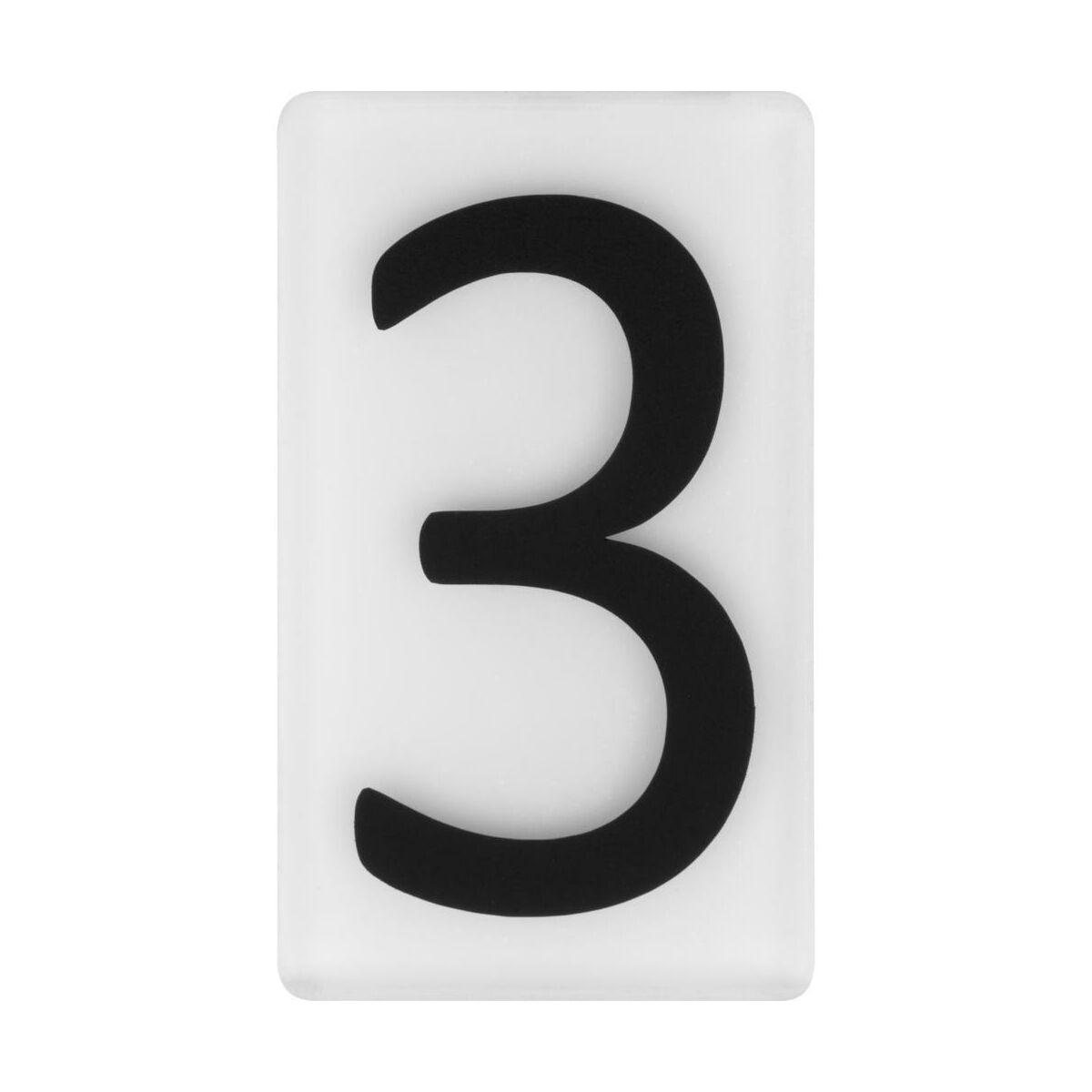 Cyfra 3 Wys 5 Cm Plexi Czarna Na Bialym Tle Numery Na Domy I Drzwi W Atrakcyjnej Cenie W Sklepach Leroy Merlin