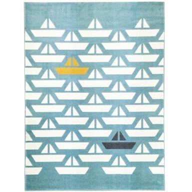 Dywan dziecięcy Scandi Boat turkusowy 120 x 170 cm