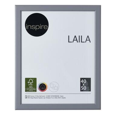 Ramka na zdjęcia LAILA 40 x 50 cm szara MDF INSPIRE