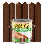 Lakierobejca do drewna SATIN FINISH 2.5 l  Orzech włoski BONDEX