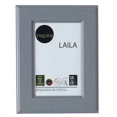 Ramka na zdjęcia Laila 10 x 15 cm szara MDF Inspire