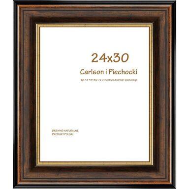 Ramka na zdjęcia SYRIUSZ 24 x 30 cm orzechowa drewniana