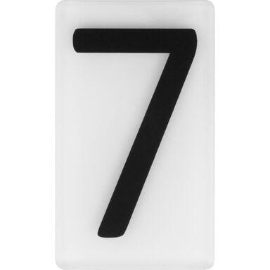 Cyfra 7 wys. 5 cm plexi czarna na białym tle
