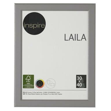 Ramka na zdjęcia LAILA 30 x 40 cm szara MDF INSPIRE