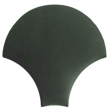 Panel ścienny tapicerowany Rybia łuska ciemny zielony
