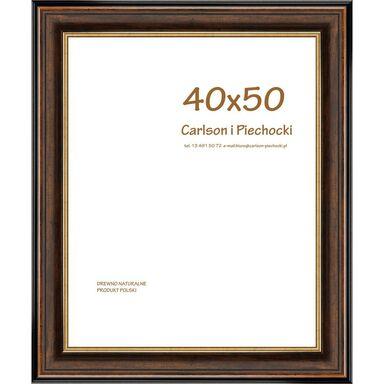 Ramka na zdjęcia SYRIUSZ 40 x 50 cm orzechowa drewniana