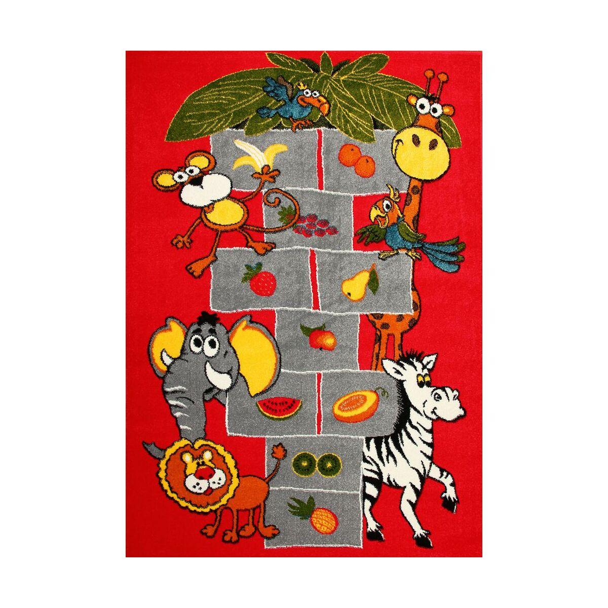 Dywan dziecięcy KOLIBRI KLASY czerwony 133 x 190 cm