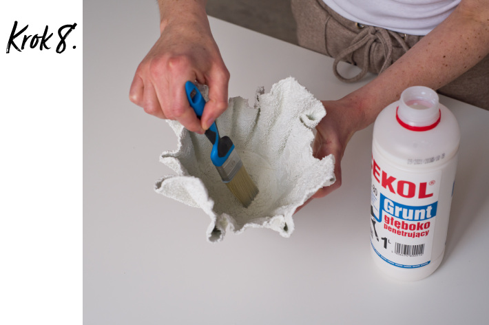 Doniczka z betonu DIY - krok 8