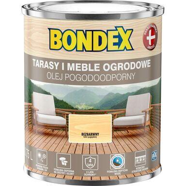 Olej do drewna POGODOODPORNY 0.75 l Bezbarwny BONDEX