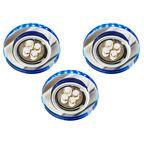 Zestaw opraw stropowych 3 szt. SS-23 niebieskie GU10 + LED CANDELLUX