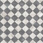 Wykładzina PCV Bartesa Holywell biało-czarna imitacja płytek 3 m